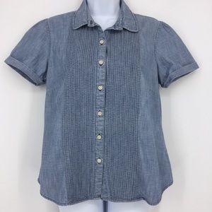 LLBean Women's Blue Jean short sleeve shirt 10